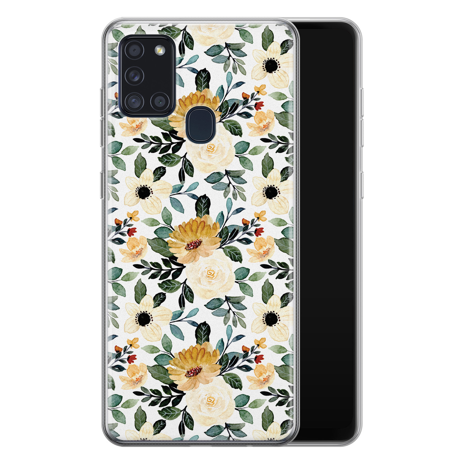 Samsung Galaxy A21s siliconen hoesje - Lovely flower