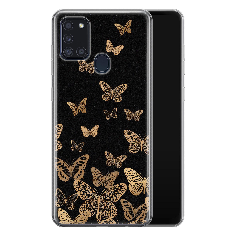 Samsung Galaxy A21s siliconen hoesje - Vlinders