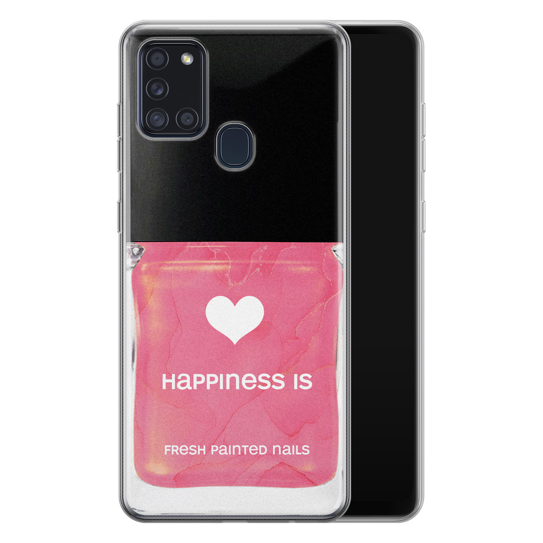 Samsung Galaxy A21s siliconen hoesje - Nagellak