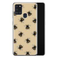 Samsung Galaxy A21s siliconen hoesje - Bee happy
