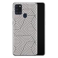Samsung Galaxy A21s siliconen hoesje - Geometrisch