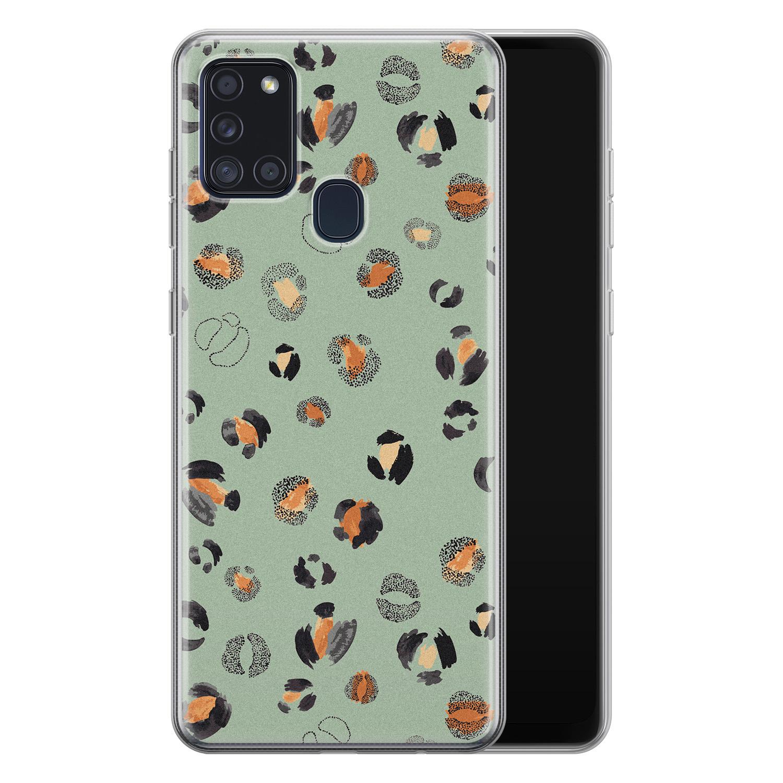 Samsung Galaxy A21s siliconen hoesje - Baby leo