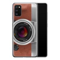 Samsung Galaxy A41 siliconen hoesje - Vintage camera