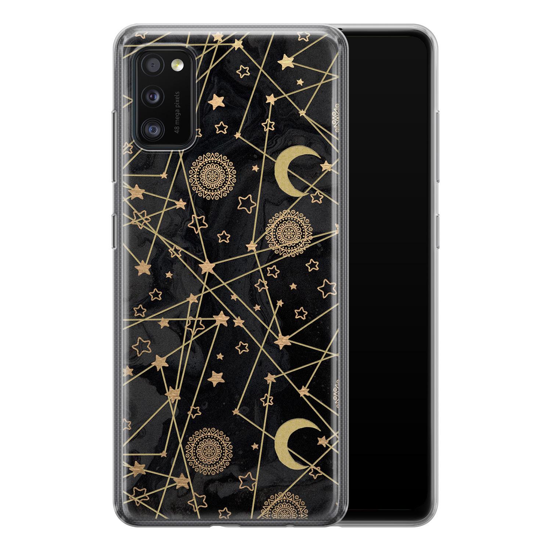 Samsung Galaxy A41 siliconen hoesje - Sun, moon, stars