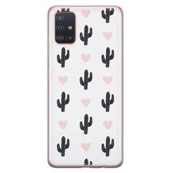 Samsung Galaxy A71 siliconen hoesje - Cactus love