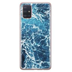 Samsung Galaxy A71 siliconen hoesje - Ocean blue