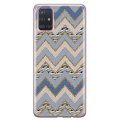 Samsung Galaxy A71 siliconen hoesje - Retro zigzag