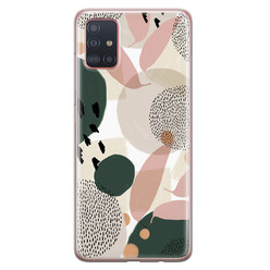 Samsung Galaxy A71 siliconen hoesje - Abstract print