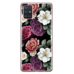 Samsung Galaxy A71 siliconen hoesje - Bloemenliefde