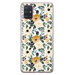 Samsung Galaxy A71 siliconen hoesje - Lovely flower