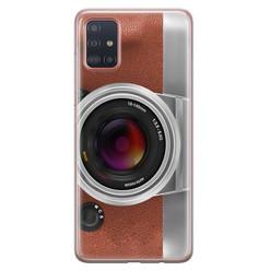 Samsung Galaxy A71 siliconen hoesje - Vintage camera