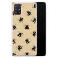 Samsung Galaxy A71 siliconen hoesje - Bee happy