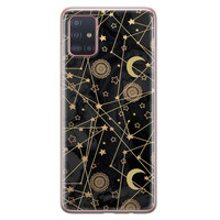 Samsung Galaxy A71 siliconen hoesje - Sun, moon, stars