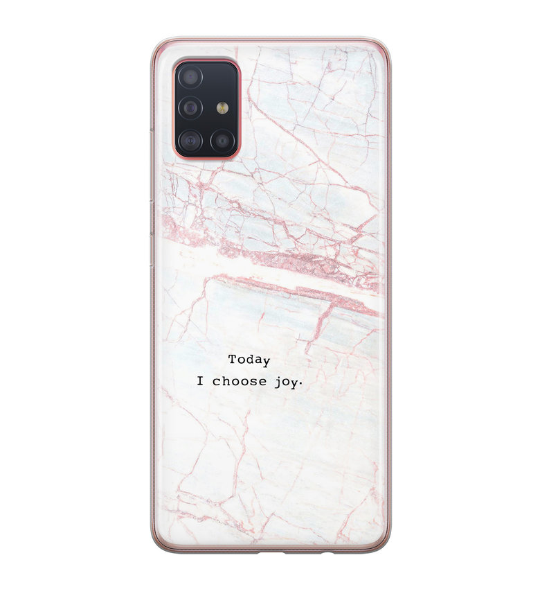 Samsung Galaxy A71 siliconen hoesje - Goud abstract