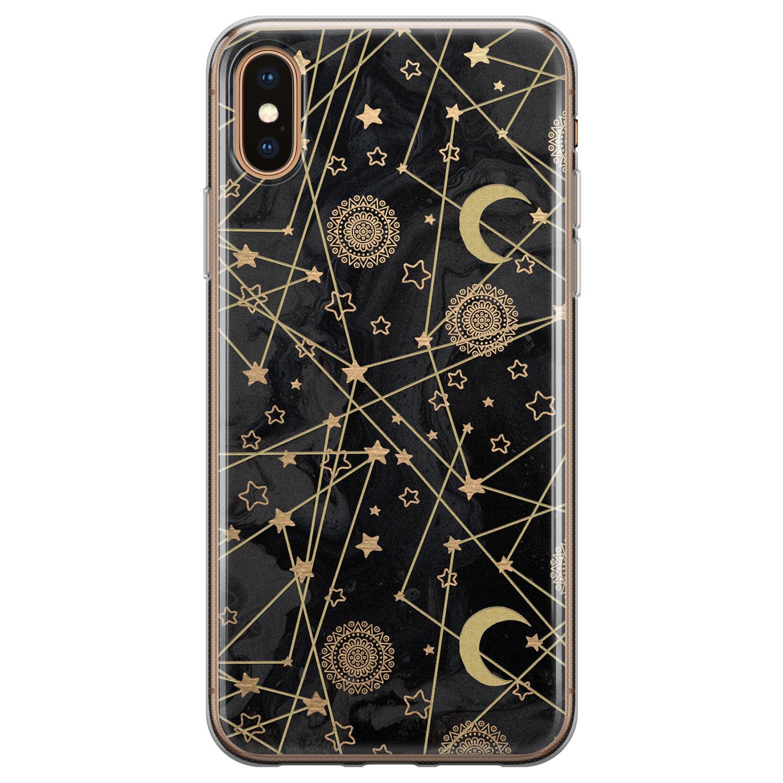 iPhone X/XS siliconen hoesje - Sun, moon, stars