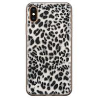 iPhone X/XS siliconen hoesje - Luipaard grijs