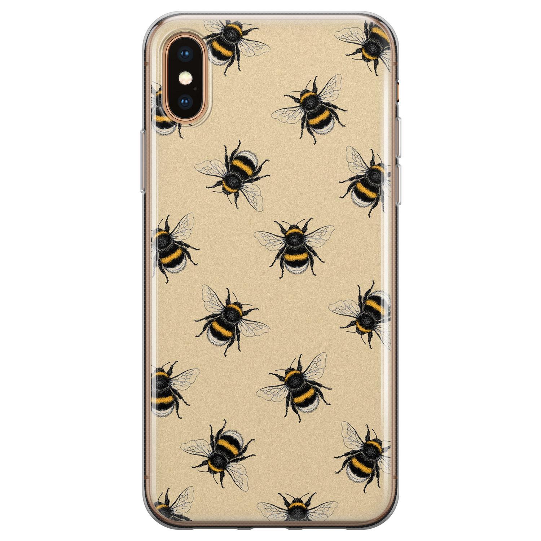 iPhone X/XS siliconen hoesje - Bee happy