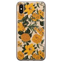 Leuke Telefoonhoesjes iPhone X/XS siliconen hoesje - Retro flowers