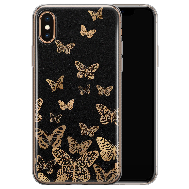 iPhone X/XS siliconen hoesje - Vlinders