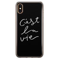 Leuke Telefoonhoesjes iPhone X/XS siliconen hoesje - C'est la vie
