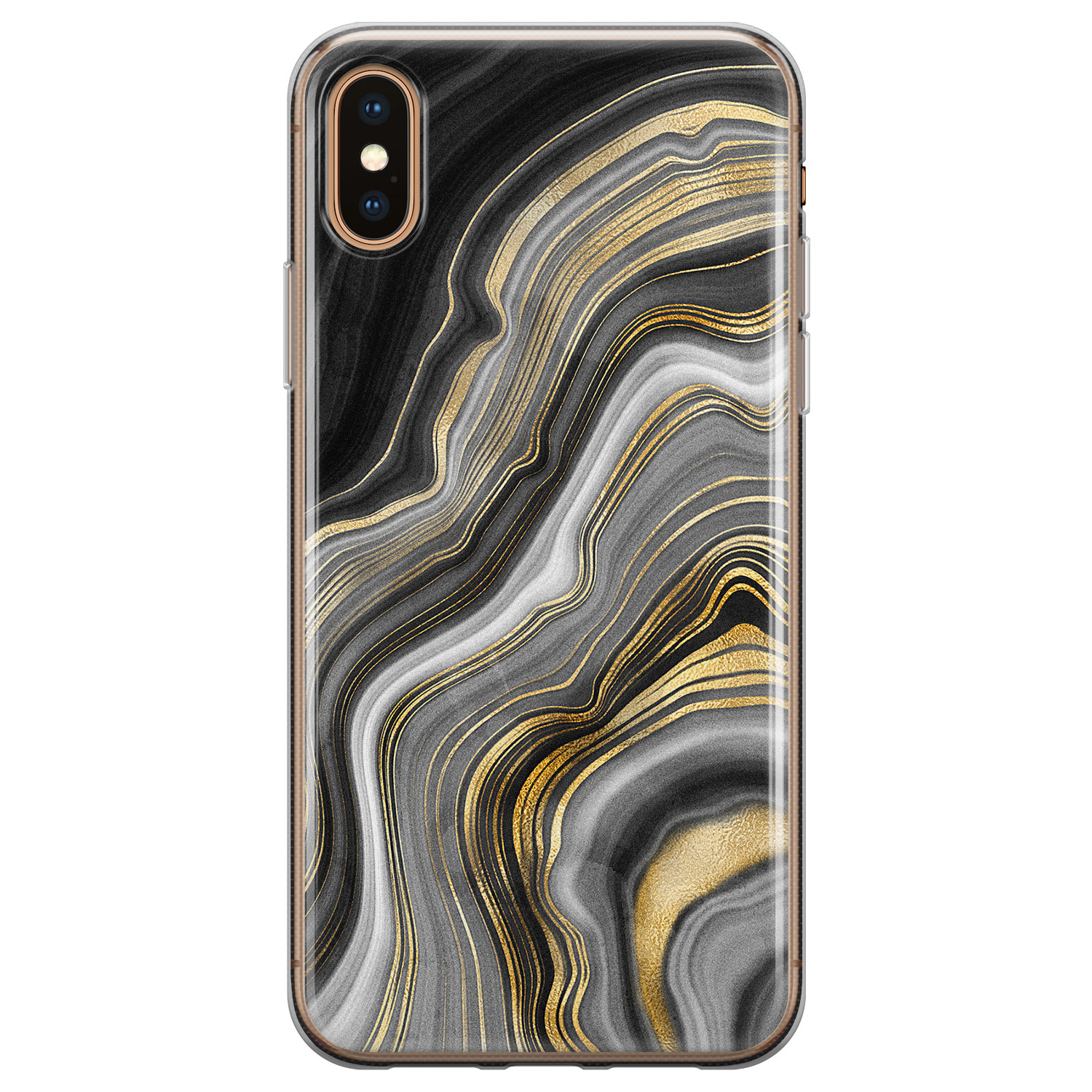 iPhone X/XS siliconen hoesje - Golden agate