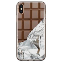 Leuke Telefoonhoesjes iPhone X/XS siliconen hoesje - Chocoladereep