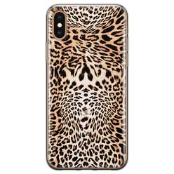 Leuke Telefoonhoesjes iPhone X/XS siliconen hoesje - Wild animal