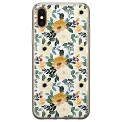 iPhone X/XS siliconen hoesje - Lovely flower