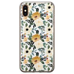 Leuke Telefoonhoesjes iPhone X/XS siliconen hoesje - Lovely flower