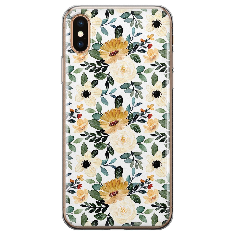 iPhone X/XS siliconen hoesje - Lovely flower