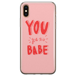 iPhone X/XS siliconen hoesje - You got this babe!