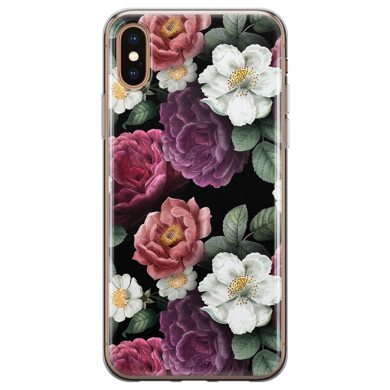 iPhone X/XS siliconen hoesje - Bloemenliefde