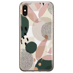 Leuke Telefoonhoesjes iPhone X/XS siliconen hoesje - Abstract print