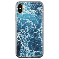 Leuke Telefoonhoesjes iPhone X/XS siliconen hoesje - Ocean blue