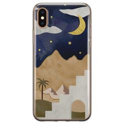 Leuke Telefoonhoesjes iPhone X/XS siliconen hoesje - Desert night
