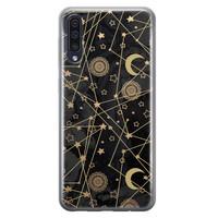 Samsung Galaxy A50/A30s siliconen hoesje - Sun, moon, stars