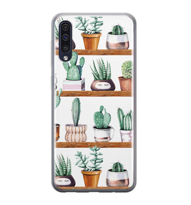 Samsung Galaxy A50/A30s siliconen hoesje - Cactus