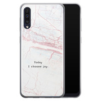 Samsung Galaxy A50/A30s siliconen hoesje - Goud abstract