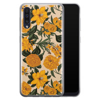 Samsung Galaxy A50/A30s siliconen hoesje - Retro flowers