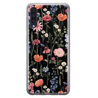 Samsung Galaxy A50/A30s siliconen hoesje - Dark flowers