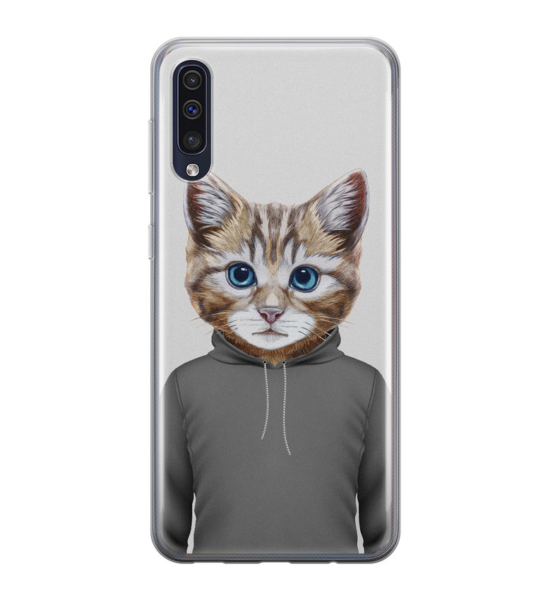 Samsung Galaxy A50/A30s siliconen hoesje - Poezenhoofd