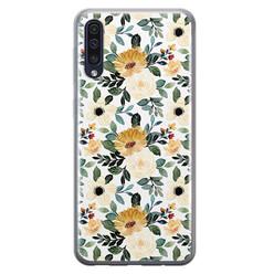 Leuke Telefoonhoesjes Samsung Galaxy A50/A30s siliconen hoesje - Lovely flower