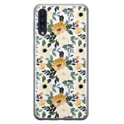 Samsung Galaxy A50/A30s siliconen hoesje - Lovely flower