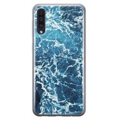 Leuke Telefoonhoesjes Samsung Galaxy A50/A30s siliconen hoesje - Ocean blue