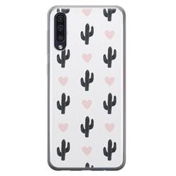 Leuke Telefoonhoesjes Samsung Galaxy A50/A30s siliconen hoesje - Cactus love