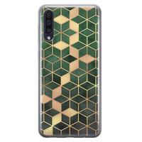 Samsung Galaxy A50/A30s siliconen hoesje - Green cubes