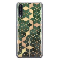 Leuke Telefoonhoesjes Samsung Galaxy A50/A30s siliconen hoesje - Green cubes