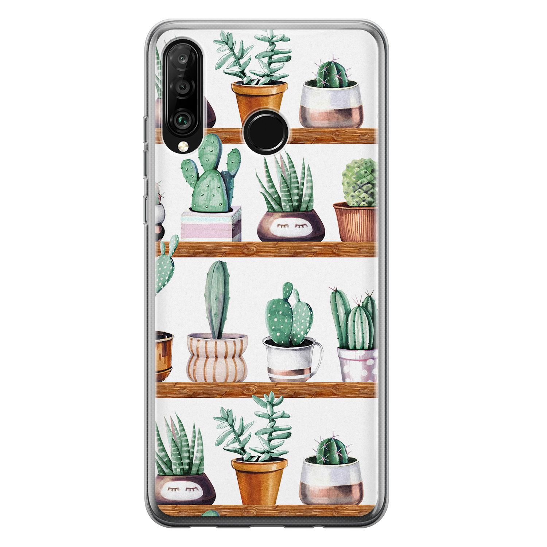 Huawei P30 Lite siliconen hoesje - Cactus