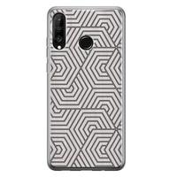 Huawei P30 Lite siliconen hoesje - Geometrisch