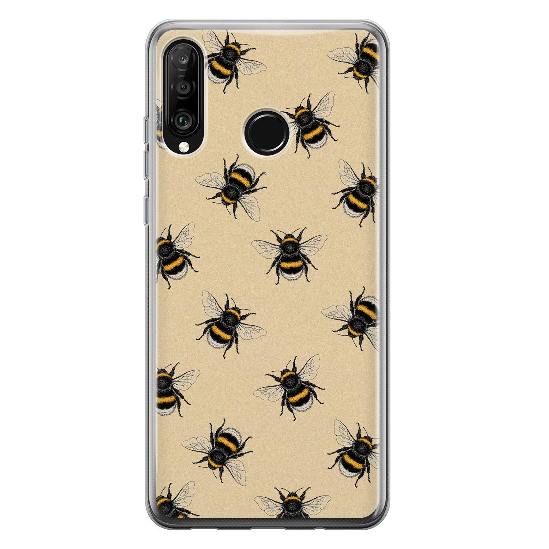 Huawei P30 Lite siliconen hoesje - Bee happy